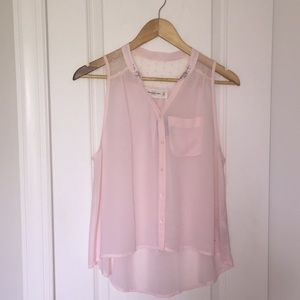 Abercrombie & Fitch Blush Pink Sleeveless Top